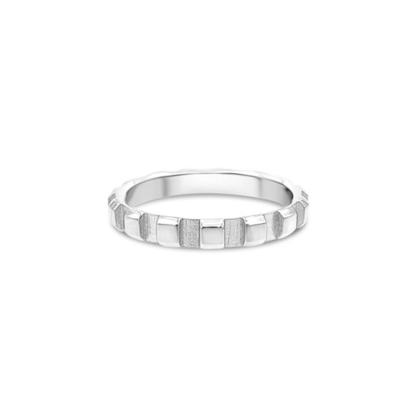RAILED WHITE GOLD BAND – 3.5MM