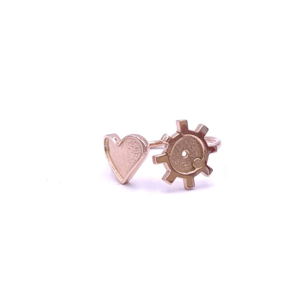 Joe Wall AR Bolt Head Heart Ring Rose Gold